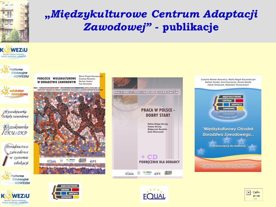 Międzykulturowe Centrum Adaptacji Zawodowej - publikacje + CD
