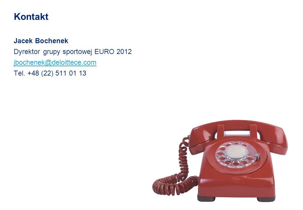 © 2010 Deloitte Polska Kontakt Jacek Bochenek Dyrektor grupy sportowej EURO 2012 jbochenek@deloittece.com Tel. +48 (22) 511 01 13