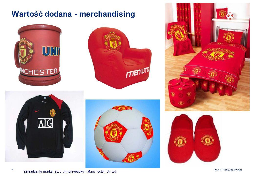 © 2010 Deloitte Polska Wartość dodana - merchandising 7 Zarządzanie marką. Studium przypadku - Manchester United