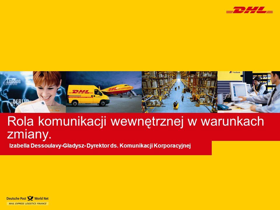 Rola komunikacji wewnętrznej w warunkach zmiany. Izabella Dessoulavy-Gładysz- Dyrektor ds. Komunikacji Korporacyjnej