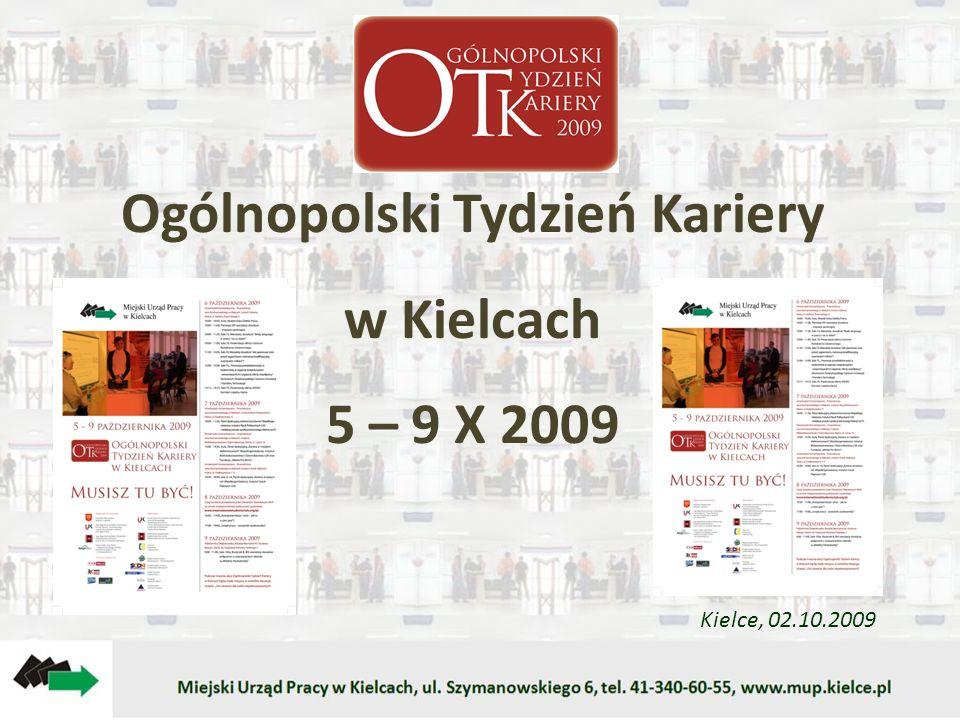 Ogólnopolski Tydzień Kariery w Kielcach 5 – 9 X 2009 Kielce, 02.10.2009