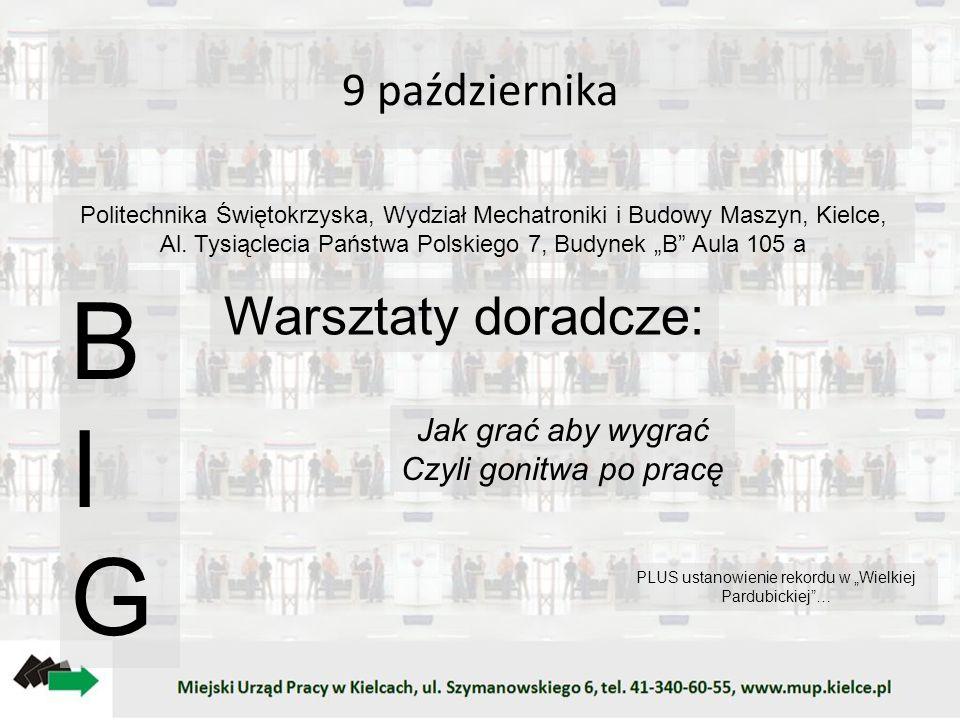 9 października Politechnika Świętokrzyska, Wydział Mechatroniki i Budowy Maszyn, Kielce, Al. Tysiąclecia Państwa Polskiego 7, Budynek B Aula 105 a BIG