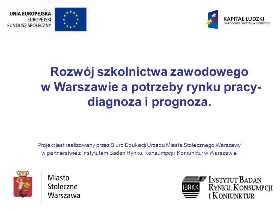 Rozwój szkolnictwa zawodowego w Warszawie a potrzeby rynku pracy- diagnoza i prognoza.