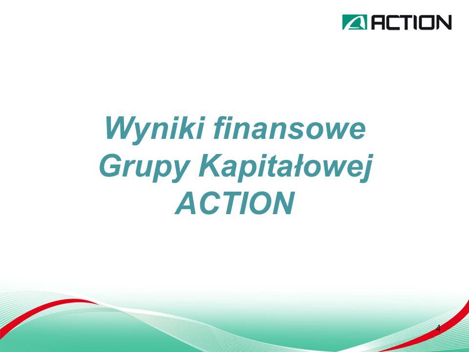 4 Wyniki finansowe Grupy Kapitałowej ACTION
