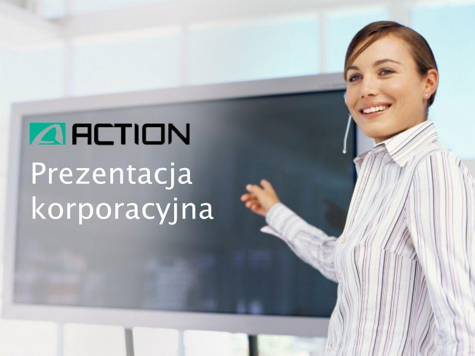 Grupa ACTION to jeden z wiodących podmiotów na rynku dystrybucji sprzętu IT w Polsce (drugi największy gracz rynkowy) oraz znaczący producent sprzętu komputerowego ACTION jest największym producentem i głównym dostawcą wysokowydajnych serwerów w Polsce Spółka buduje swoją pozycję na rynku od 17 lat ACTION posiada rozbudowaną bazę magazynową o powierzchni 11 500 m ² ACTION rozwija działalność na Ukrainie – sieć 15 sklepów oferujących sprzęt IT oraz RTV/AGD ACTION posiada 2 marki własne – Actina i Active Jet Spółka dywersyfikuje działalność poprzez a.pl (galeria internetowa) oraz Sferis (sieć detaliczna) Od ponad roku Spółka jest notowana na warszawskiej Giełdzie Papierów Wartościowych DZIAŁALNOŚĆ FIRMY 2