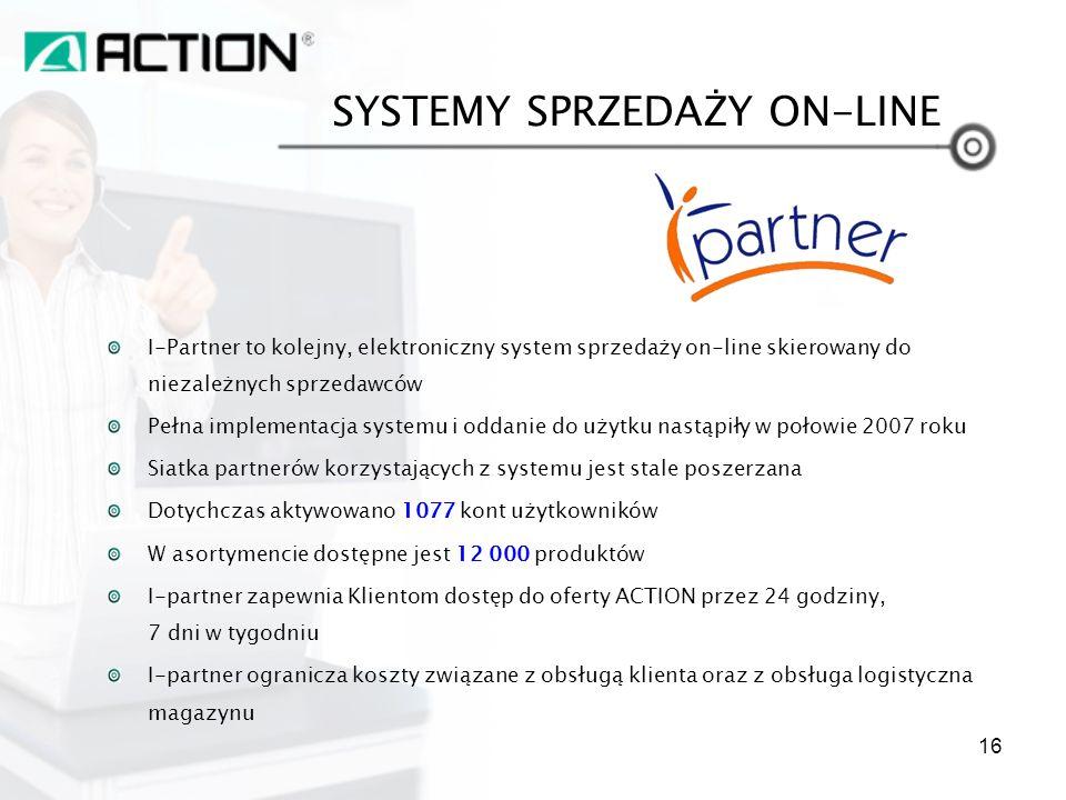 I-Partner to kolejny, elektroniczny system sprzedaży on-line skierowany do niezależnych sprzedawców Pełna implementacja systemu i oddanie do użytku na