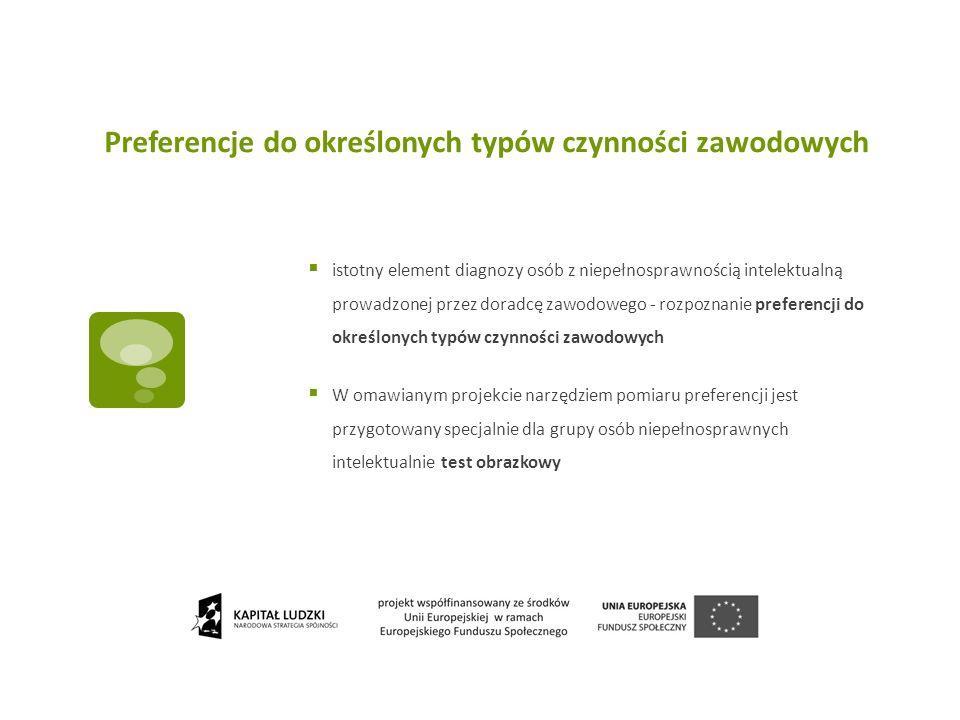 Preferencje do określonych typów czynności zawodowych istotny element diagnozy osób z niepełnosprawnością intelektualną prowadzonej przez doradcę zawo