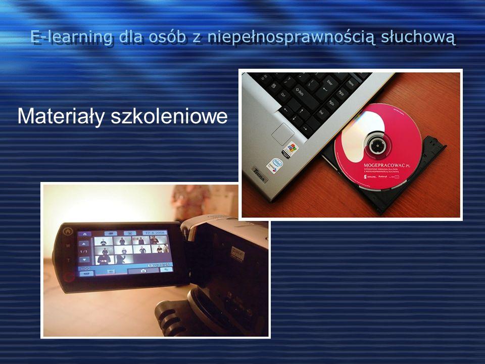 E-learning dla osób z niepełnosprawnością słuchową Adaptacja projektu