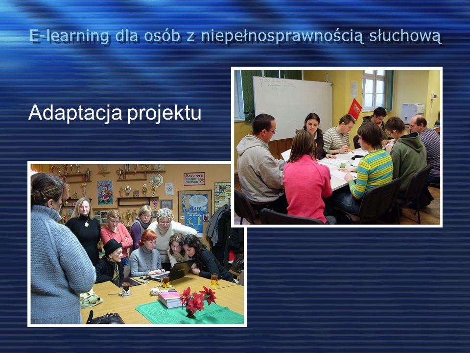 E-learning dla osób z niepełnosprawnością słuchową Tematyka