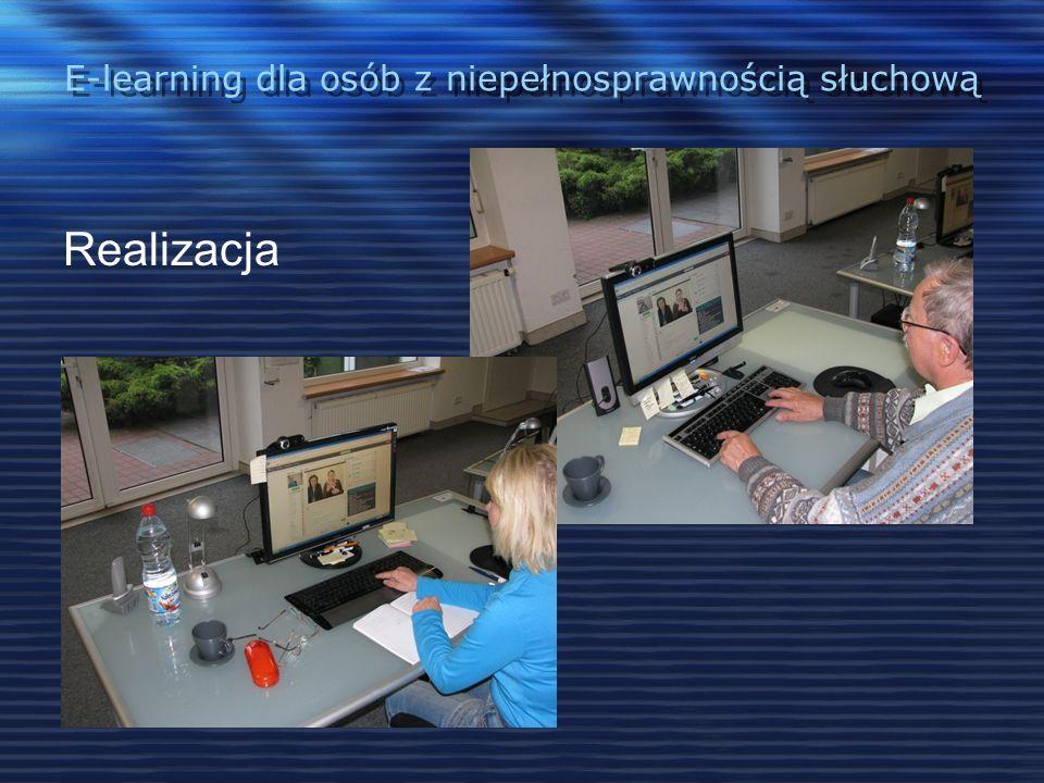 E-learning dla osób z niepełnosprawnością słuchową Kontynuacja