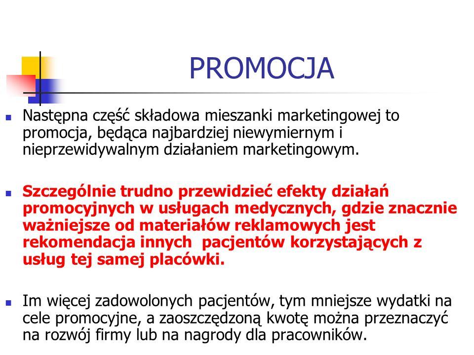 PROMOCJA Następna część składowa mieszanki marketingowej to promocja, będąca najbardziej niewymiernym i nieprzewidywalnym działaniem marketingowym. Sz