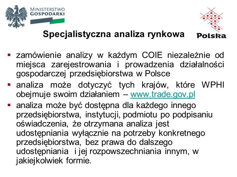 zamówienie analizy w każdym COIE niezależnie od miejsca zarejestrowania i prowadzenia działalności gospodarczej przedsiębiorstwa w Polsce analiza może
