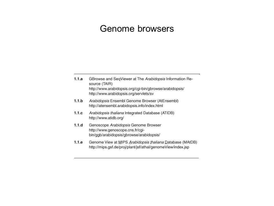Genome browsers