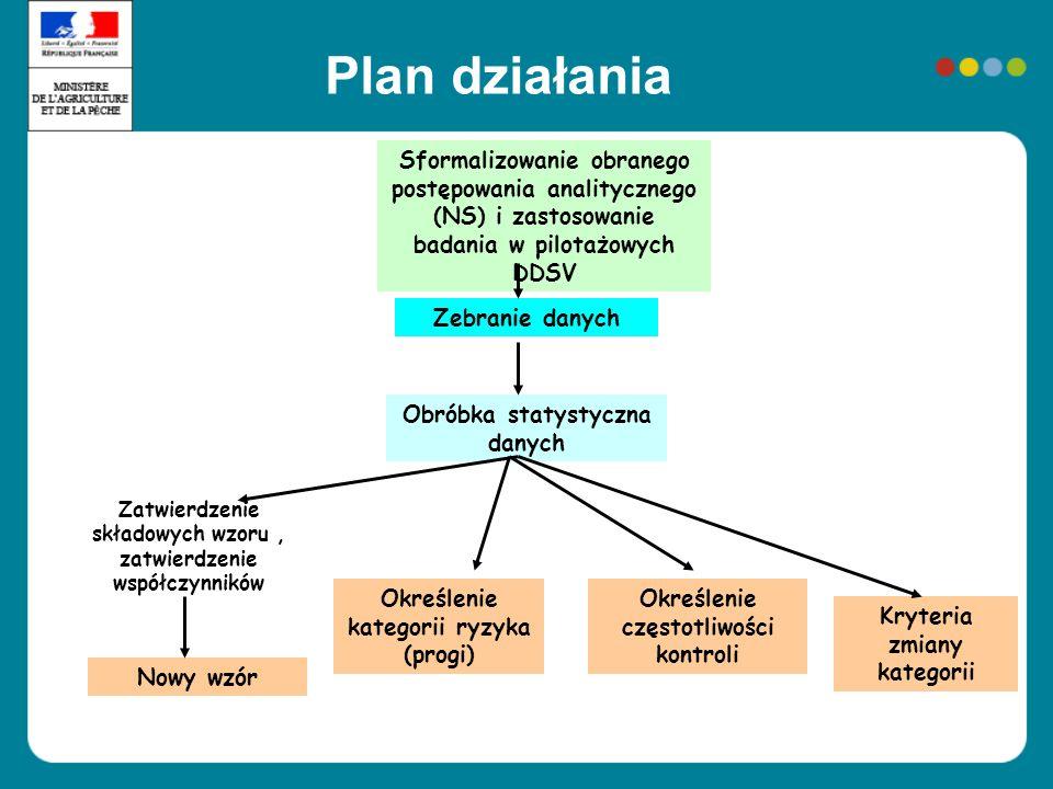 Plan działania Sformalizowanie obranego postępowania analitycznego (NS) i zastosowanie badania w pilotażowych DDSV Zebranie danych Obróbka statystyczn