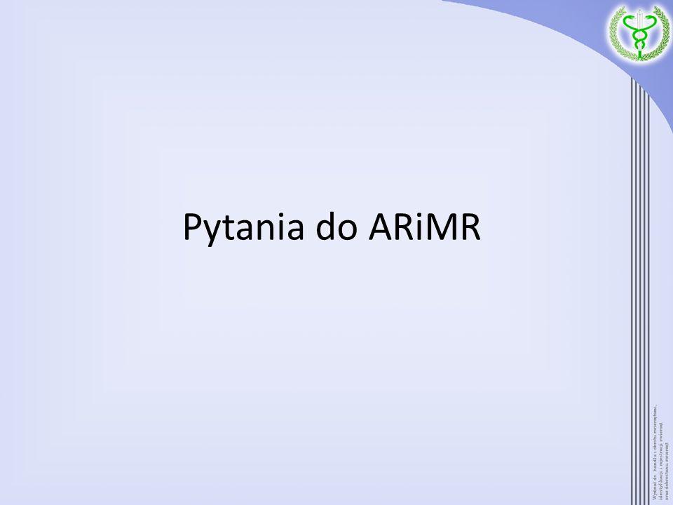 Pytania do ARiMR