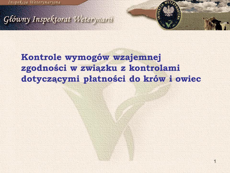 1 Kontrole wymogów wzajemnej zgodności w związku z kontrolami dotyczącymi płatności do krów i owiec
