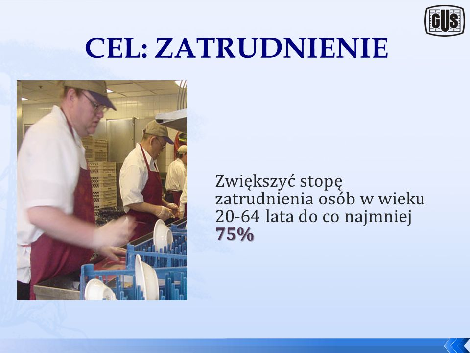 Europa 2020: CELE NADRZĘDNE 1.Zatrudnienie 2.Działalność badawczo-rozwojowa 3.Klimat i energia 4.Edukacja 5.Zwalczanie ubóstwa 5 nadrzędnych celów wsk