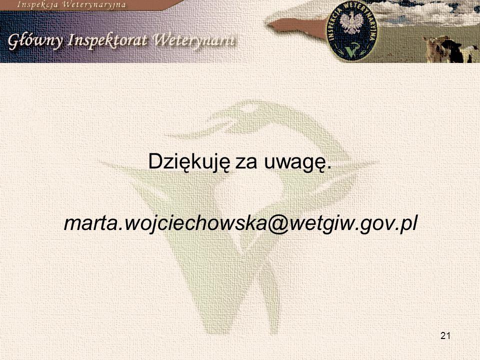 21 Dziękuję za uwagę. marta.wojciechowska@wetgiw.gov.pl
