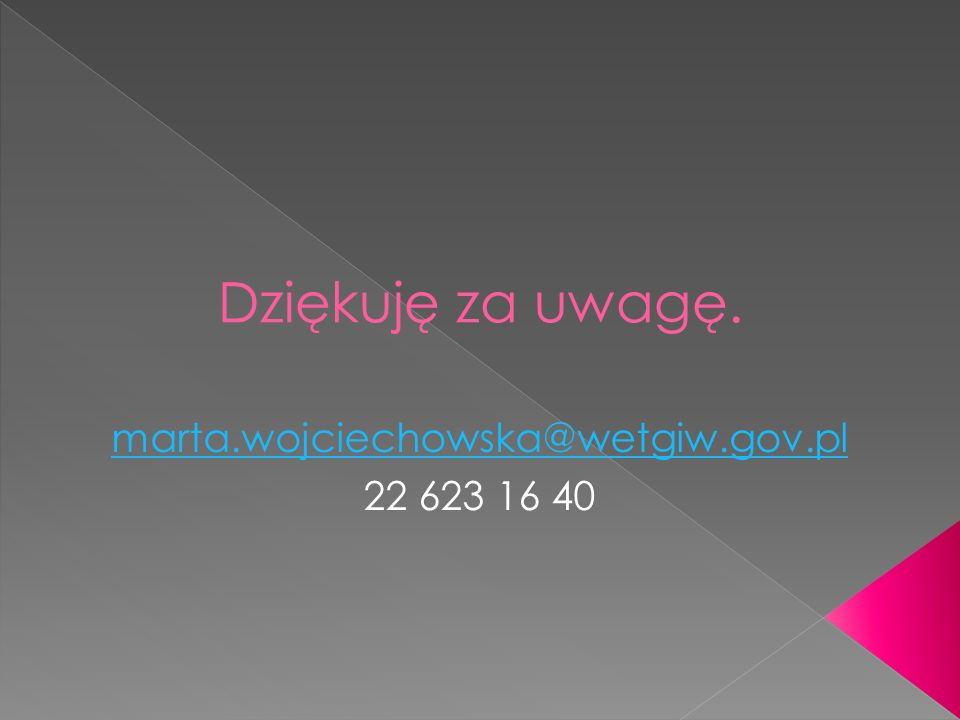 marta.wojciechowska@wetgiw.gov.pl 22 623 16 40