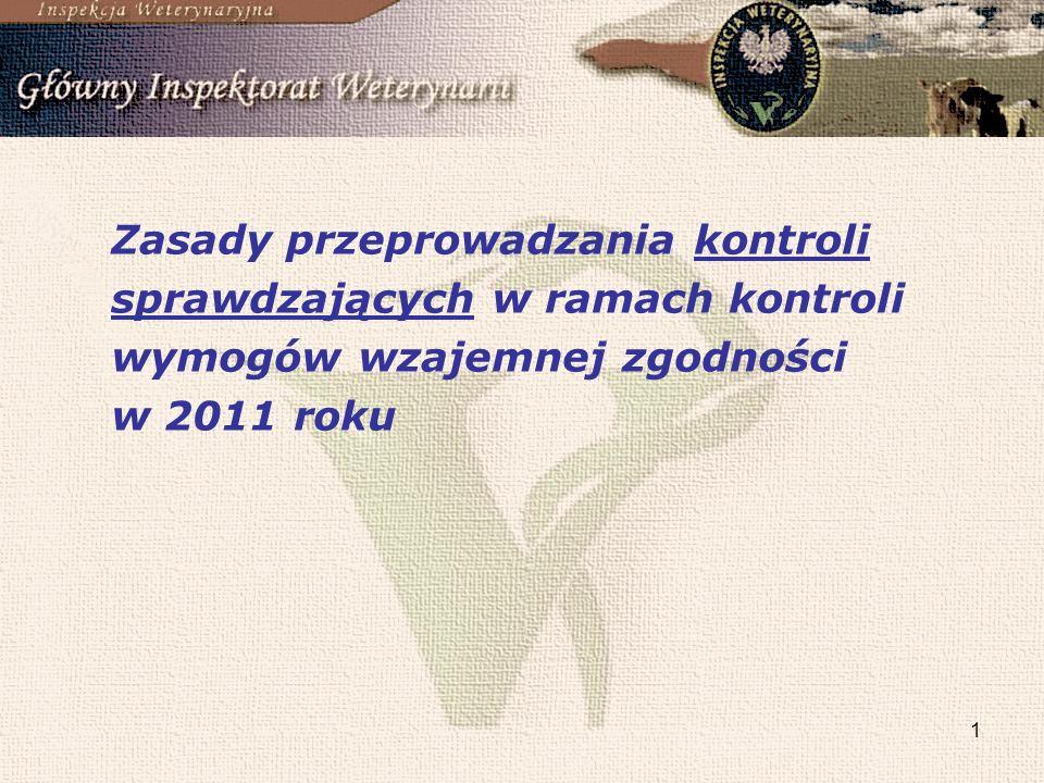 1 Zasady przeprowadzania kontroli sprawdzających w ramach kontroli wymogów wzajemnej zgodności w 2011 roku