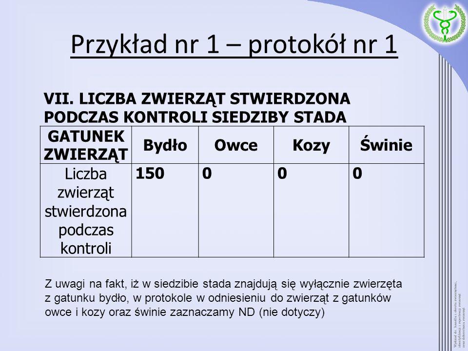 Przykład nr 1 – protokół nr 2 – Kozy urodzone w kwietniu 2006 r., dwie oznakowane dwoma kolczykami, dwie 1 kolczykiem i opaską na pęcinę, OZNAKOWANIE PRAWIDŁOWE