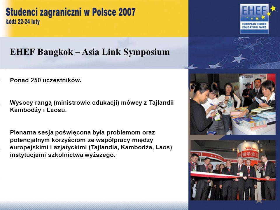 EHEF Bangkok – Asia Link Symposium Ponad 250 uczestników.