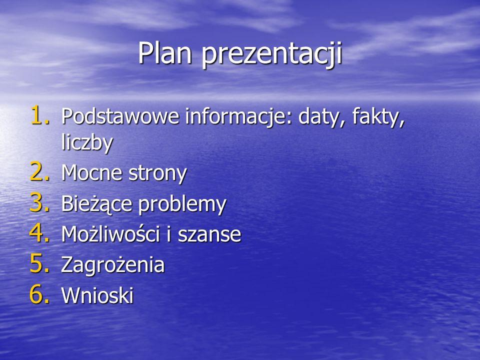 Plan prezentacji 1. Podstawowe informacje: daty, fakty, liczby 2.