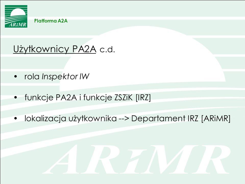 OBRAZEK Platforma A2A Informacja o procesie generowania danych/raportu