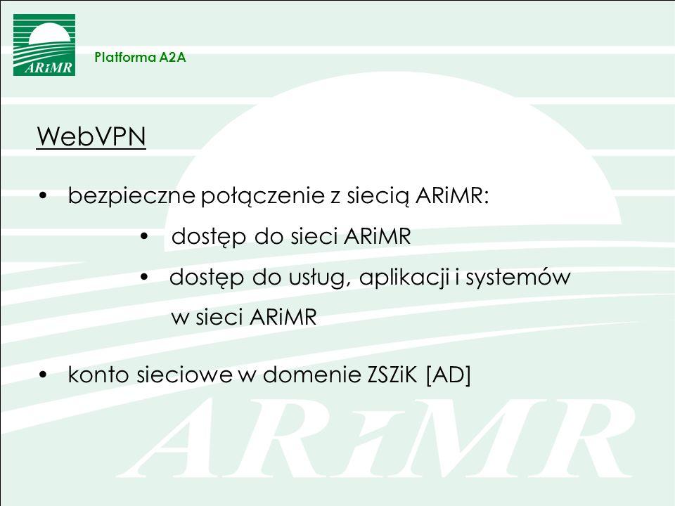 Web VPN – wymagania Rozporządzenie Ministra Spraw Wewnętrznych i Administracji z dnia 29 kwietnia 2004 r.