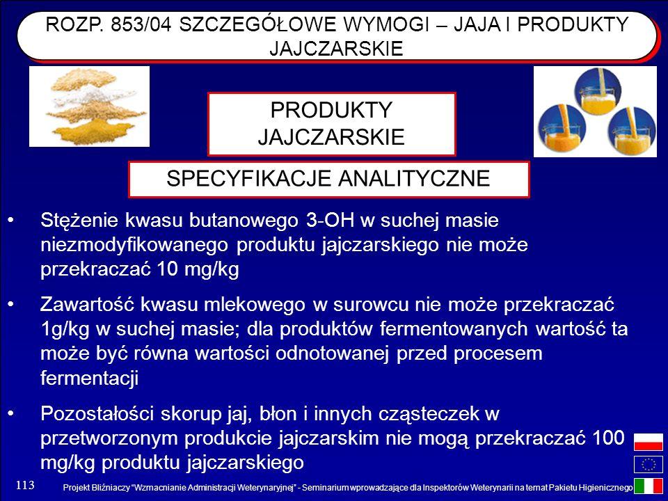 Projekt Bliźniaczy Wzmacnianie Administracji Weterynaryjnej - Seminarium wprowadzające dla Inspektorów Weterynarii na temat Pakietu Higienicznego 113