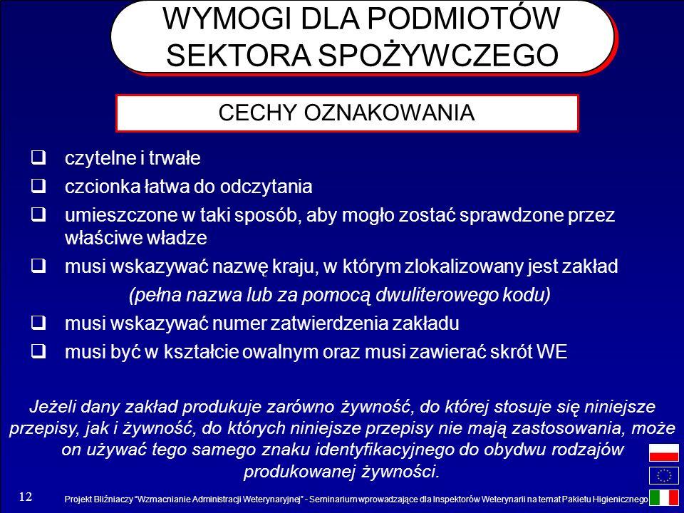 Projekt Bliźniaczy Wzmacnianie Administracji Weterynaryjnej - Seminarium wprowadzające dla Inspektorów Weterynarii na temat Pakietu Higienicznego 12 c