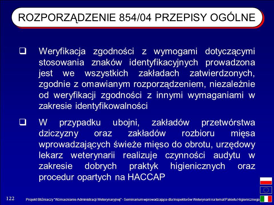 Projekt Bliźniaczy Wzmacnianie Administracji Weterynaryjnej - Seminarium wprowadzające dla Inspektorów Weterynarii na temat Pakietu Higienicznego 122