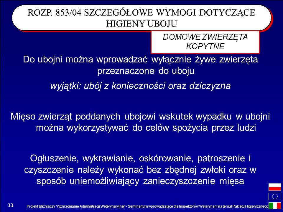 Projekt Bliźniaczy Wzmacnianie Administracji Weterynaryjnej - Seminarium wprowadzające dla Inspektorów Weterynarii na temat Pakietu Higienicznego 33 D
