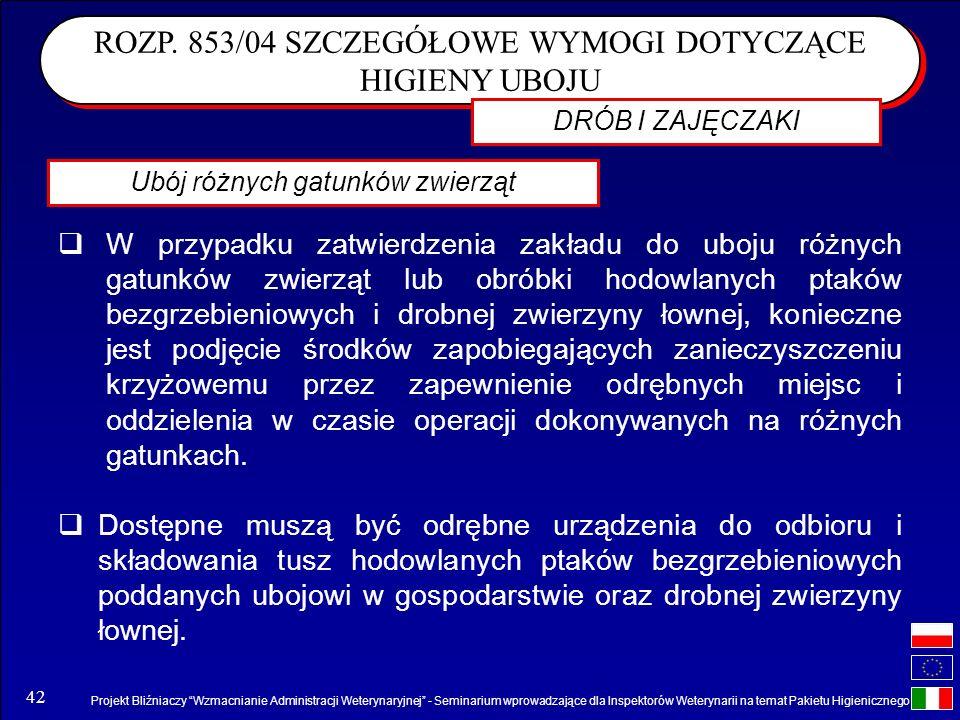Projekt Bliźniaczy Wzmacnianie Administracji Weterynaryjnej - Seminarium wprowadzające dla Inspektorów Weterynarii na temat Pakietu Higienicznego 42 R