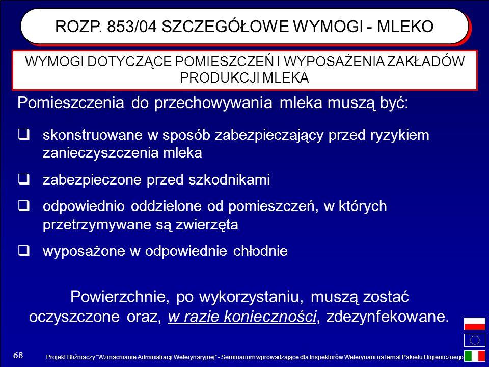 Projekt Bliźniaczy Wzmacnianie Administracji Weterynaryjnej - Seminarium wprowadzające dla Inspektorów Weterynarii na temat Pakietu Higienicznego 68 W