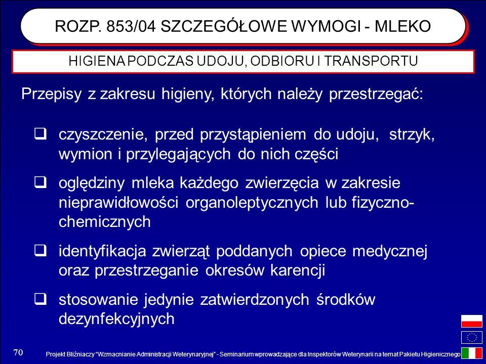 Projekt Bliźniaczy Wzmacnianie Administracji Weterynaryjnej - Seminarium wprowadzające dla Inspektorów Weterynarii na temat Pakietu Higienicznego 70 H
