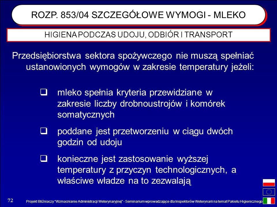 Projekt Bliźniaczy Wzmacnianie Administracji Weterynaryjnej - Seminarium wprowadzające dla Inspektorów Weterynarii na temat Pakietu Higienicznego 72 P