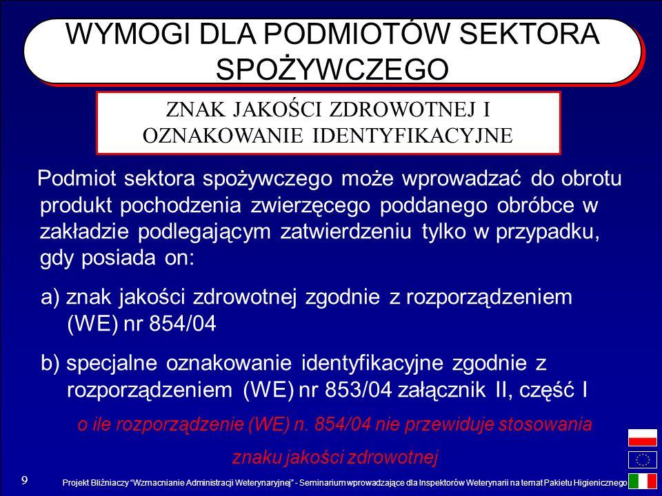 Projekt Bliźniaczy Wzmacnianie Administracji Weterynaryjnej - Seminarium wprowadzające dla Inspektorów Weterynarii na temat Pakietu Higienicznego 9 WY
