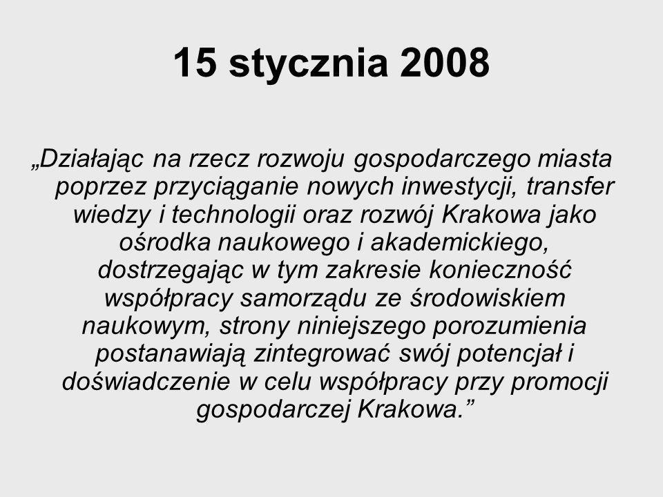 Uczelnie, które przystąpiły do porozumienia Uniwersytet Ekonomiczny w Krakowie Politechnika Krakowska im.