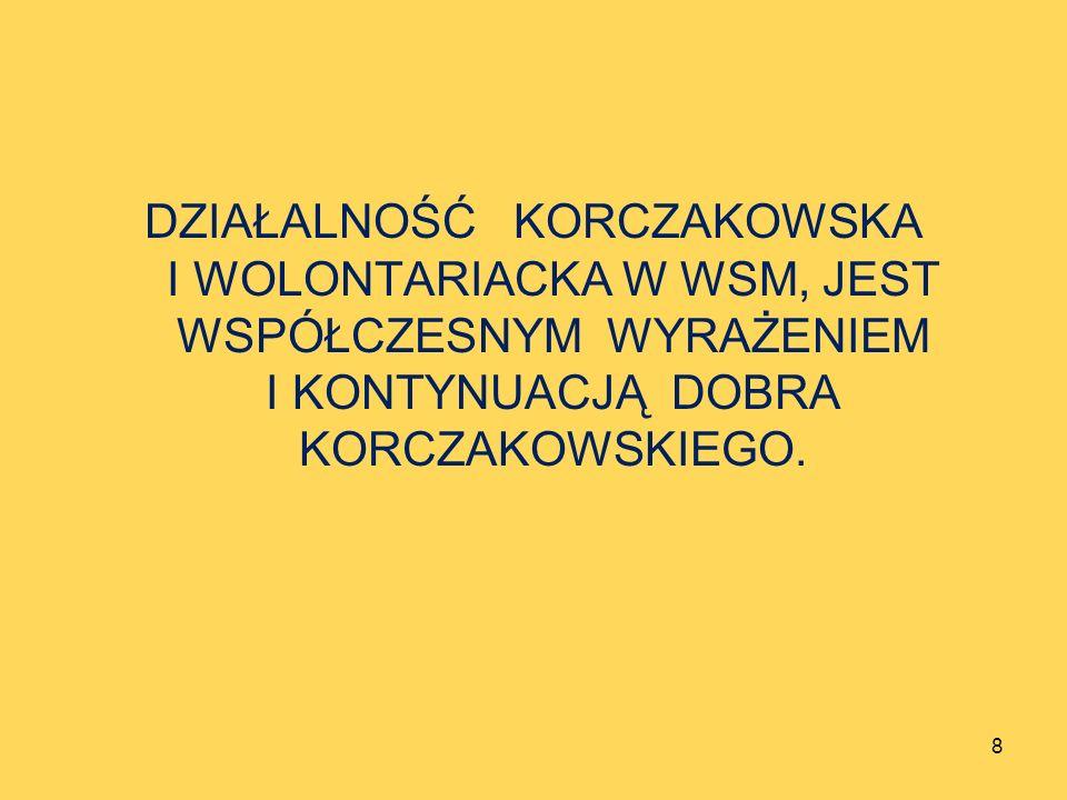 Rok 2011 był EUROPEJSKIM ROKIEM WOLONTARIATU, Rok 2012 ROKIEM KORCZAKOWSKIM, Rok 2013 niech będzie systematyczną i solidną ich kontynuacją.