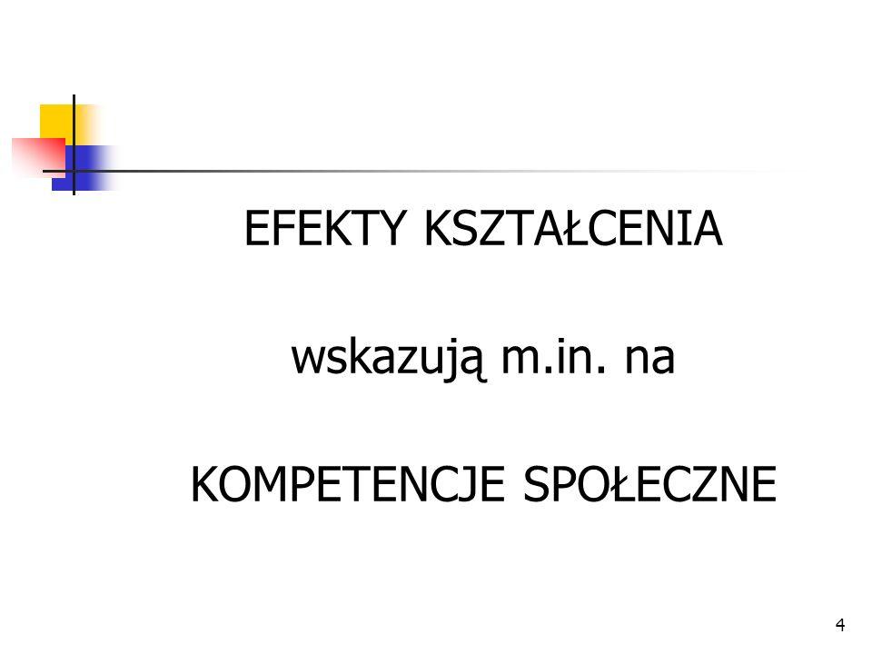 25 przygotowanie do życia w społeczeństwie informacyjnym, umiejętność posługiwania się językiem polskim, dbałość o wzbogacanie słownictwa.