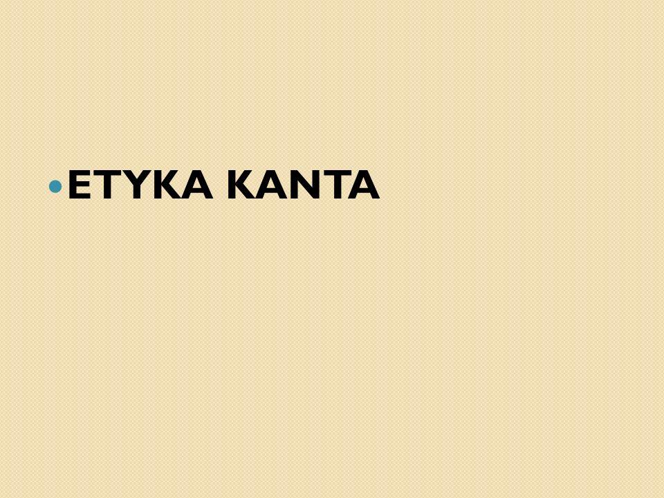ETYKA KANTA