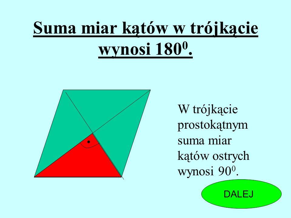 Czy przekątne rombu mogą tworzyć z tym samym bokiem rombu kąty 30 0 i 45 0 ? TAKNIE