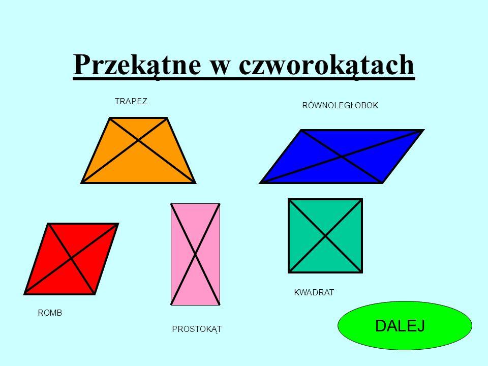 Czy czworokąt, w którym przekątne dzielą się na połowy i są do siebie prostopadłe musi być kwadratem? TAKNIE