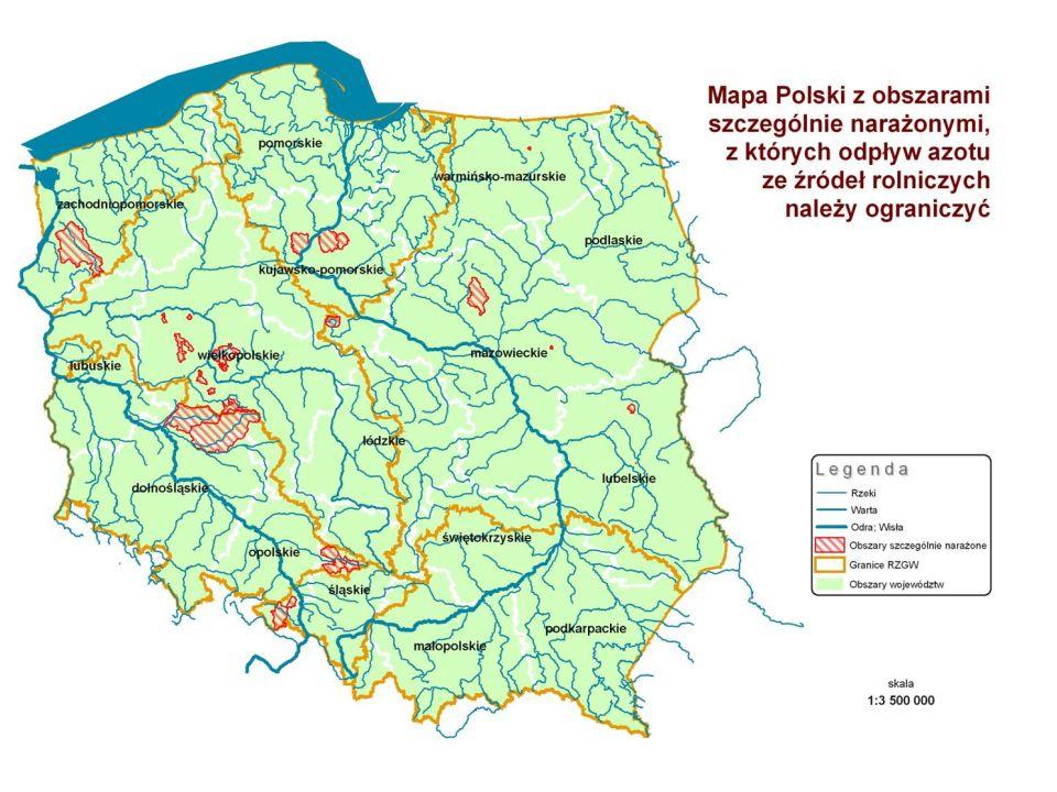 2014-01-01 11 SMR 4 Ochrona wód przed zanieczyszczeniami powodowanymi przez azotany pochodzenia rolniczego Regionalne Zarządy Gospodarki Wodnej (RZGW) opracowały i wprowadziły programy działań mające na celu ograniczenie odpływu azotu ze źródeł rolniczych.