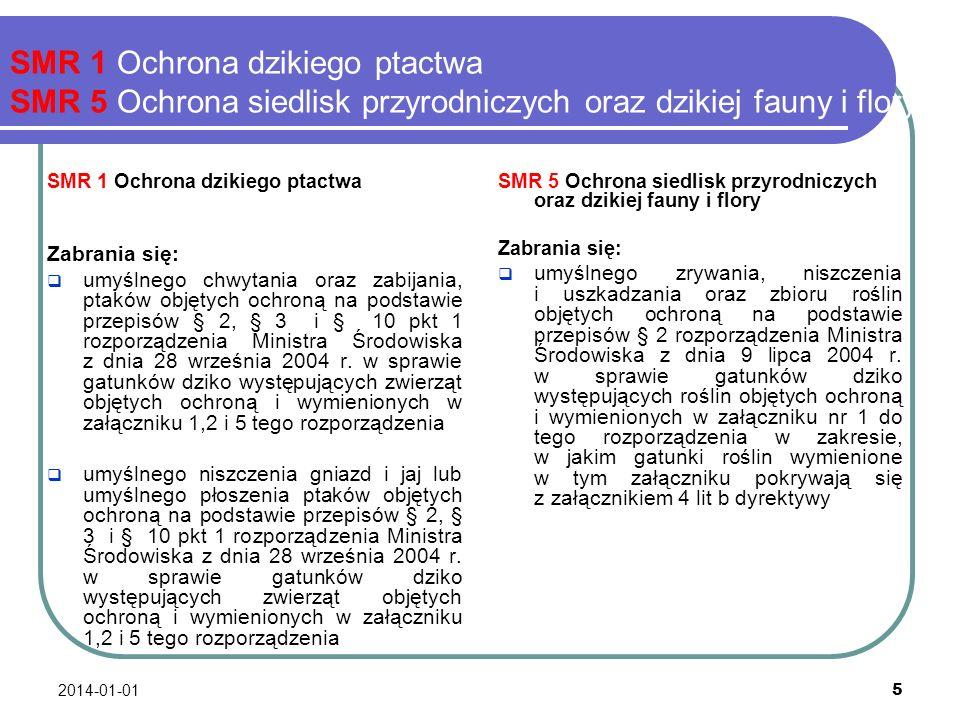 2014-01-01 6 SMR 2 Ochrona wód podziemnych przed zanieczyszczeniami powodowanymi przez niektóre substancje niebezpieczne Ochrona wód podziemnych przed zanieczyszczeniami powodowanym przez niektóre substancje niebezpieczne ma na celu zapobieganie zrzutom substancji wymienionych w załączniku nr 11 w wykazie 1 oraz w wykazie 2 do rozporządzenia Ministra Środowiska z dnia 24 lipca 2006 r.