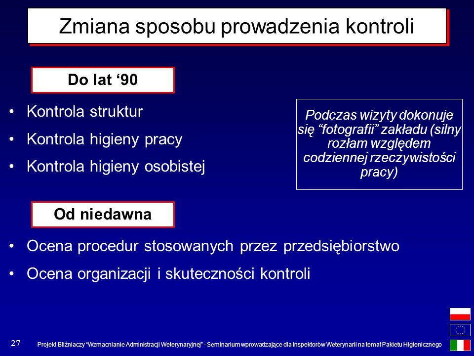 Projekt Bliźniaczy Wzmacnianie Administracji Weterynaryjnej - Seminarium wprowadzające dla Inspektorów Weterynarii na temat Pakietu Higienicznego 27 Z