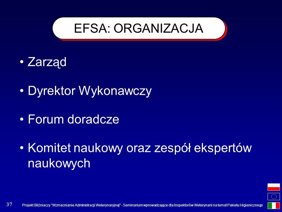 Projekt Bliźniaczy Wzmacnianie Administracji Weterynaryjnej - Seminarium wprowadzające dla Inspektorów Weterynarii na temat Pakietu Higienicznego 37 E