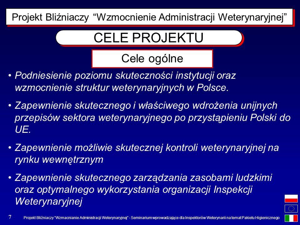 Projekt Bliźniaczy Wzmacnianie Administracji Weterynaryjnej - Seminarium wprowadzające dla Inspektorów Weterynarii na temat Pakietu Higienicznego 7 CE
