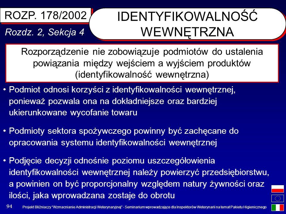 Projekt Bliźniaczy Wzmacnianie Administracji Weterynaryjnej - Seminarium wprowadzające dla Inspektorów Weterynarii na temat Pakietu Higienicznego 94 R